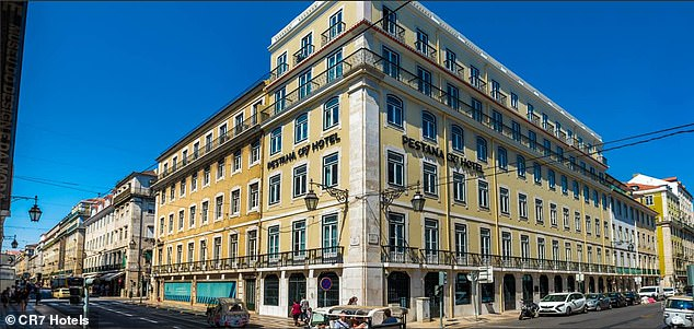 Ronaldo's CR7 hotel in the Portuguese capital Lisbon is set to be converted into a hospital