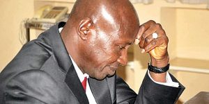 Ibrahim Magu, Acting Chairman of the Economic and Financial Crimes Commission (EFCC) in pain folowing his suspension